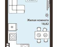 1- комнатная квартира 32.09 кв. м.
